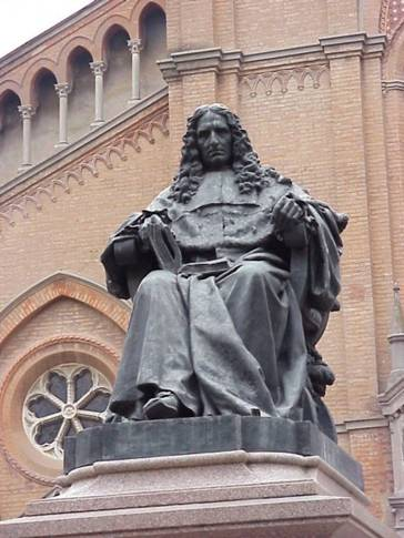 Statue of Malpighi in Bologna, Italy